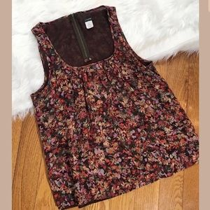 J crew women's sleeveless shirt size med 100% silk